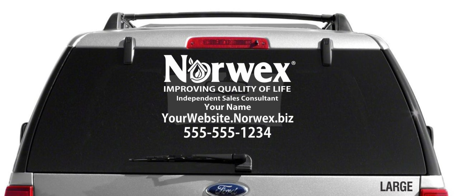 SALE Norwex Custom Vehicle Decal Single Color - Advocare car decal stickers