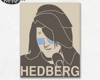 MITCH HEDBERG Poster, Fine Art Photographic Print, Portrait