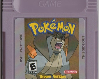 Gameboy Color Pokemon Brown Customized