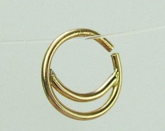 Half moon septum, gold septum , 14k gold nose ring, gold nose hoop, gold septum ring, nose ring, septum ring, septum piercing, nose piercing