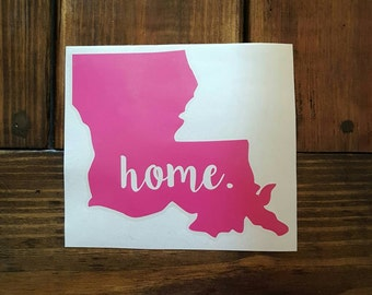"Louisiana ""home"" decal"