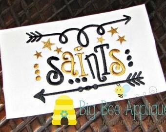 Saints Football embroidery design