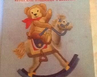 Embroidery Teddy Bear Transfers, Very Vintage