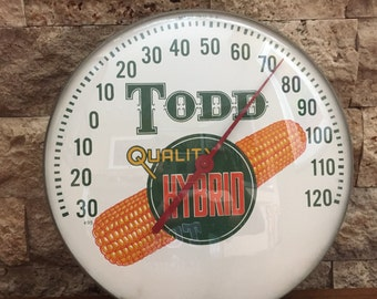 Vintage Working Todd Quality Hybrid  Corn 495 Thermometer 12 inches SALE