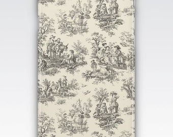Case for iPhone 8, iPhone 6s,  iPhone 6 Plus,  iPhone 5s,  iPhone SE,  iPhone 5c,  iPhone 7  - Black & Cream Vintage French Toile