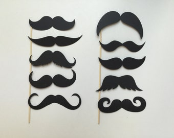 Mustache photo props set of 10