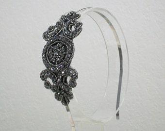 1920s headpiece, 1920s headband, Great Gatsby headpiece, Flapper headband, Downton Abbey, Rhinestone Art Deco, 1920s hair accessory