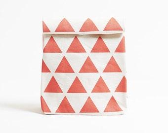 Kamibukuro/Scale-Vermilion/paper bag shape multipurpose pouch, travel goods organizer