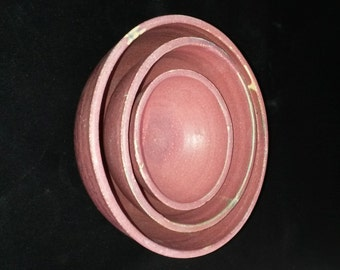 Pink nesting bowls