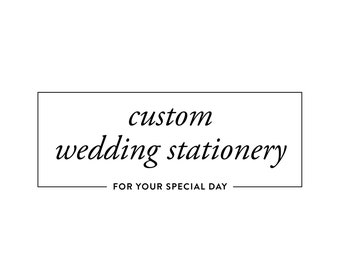 Custom Handmade Bespoke Wedding Stationery & Decor - Do Not Purchase, Contact For Individual Pricing