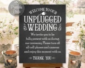 Unplugged Wedding Sign Printable Chalkboard Instant Download Ready to Print (#UNP4C)