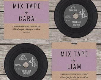 CD 'vinyl' wedding favour