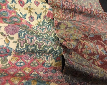 Vintage kimono silk fabric-2 pcs #7258