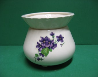 4 inch round ceramic African Violet Pot...awesome!!!