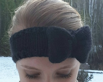 Knit Bow Headband/Ear-warmer