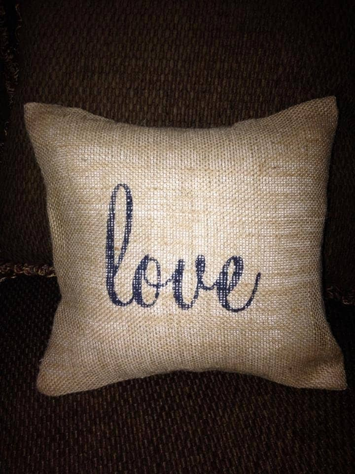 Decorative Love Pillow : Decorative Burlap Pillow Love Pillow Burlap Pillow Romantic