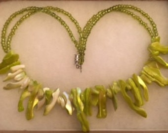Green  Shell Necklace!!