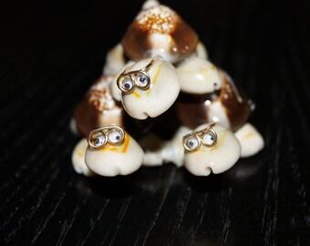 Cute Cowrie Shell Turtles, Turtle Pyramid, Seashell Turtles, Seashell Animals