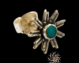 Silver Studs - Turquoise Studs - Tiny Studs - Small Studs - Tribal Studs - Indian Studs - Ethnic Studs - Tiny Earrings - Small Earrings
