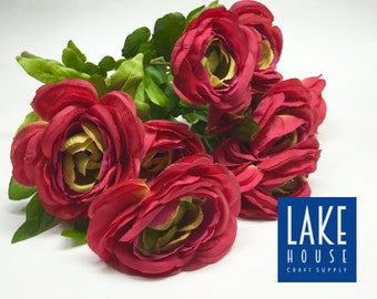 "Red Roses Bunch, 17"" Long Stems. SALE"