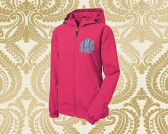 monogrammed rain jacket, monogrammed rain coat, rain jacket , rain coat