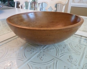 Beautiful Primitive Woodcraftery Wooden Dough Bowl
