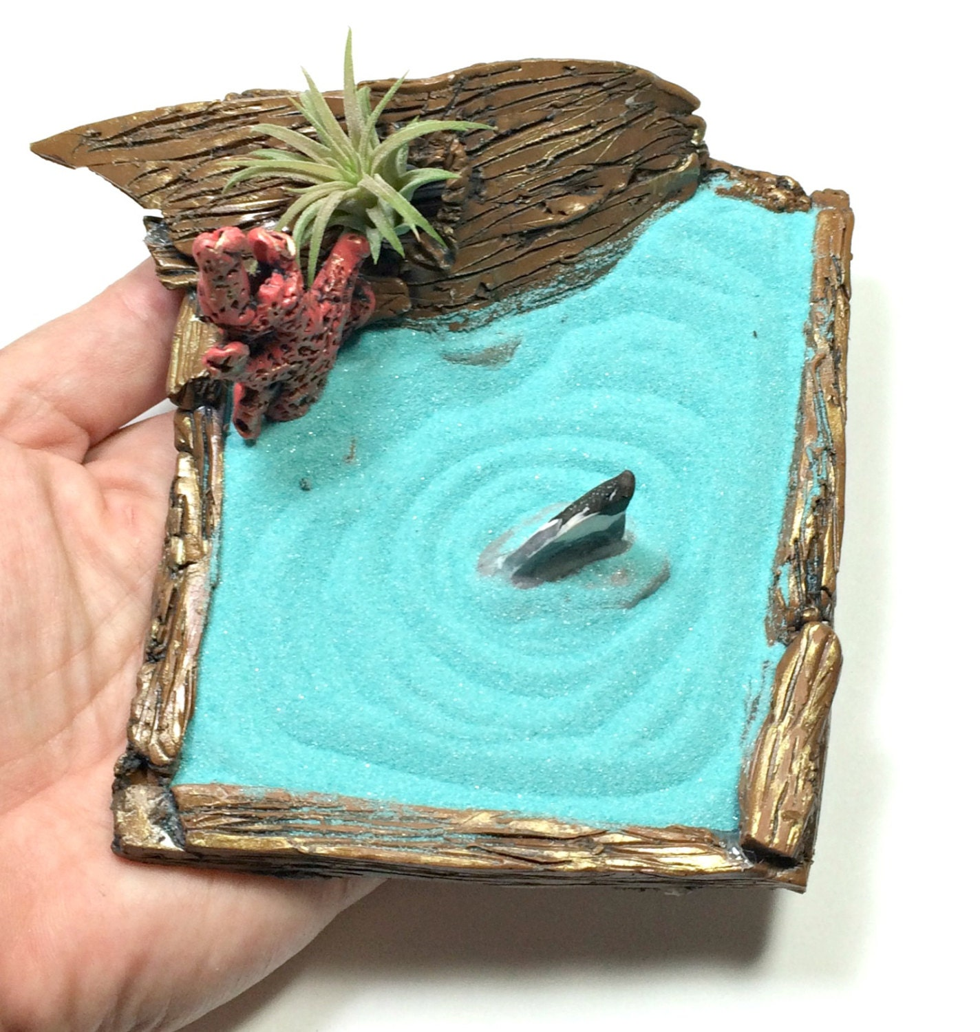 Shipwreck miniature zen garden tabletop zen garden ocean for Table zen garden