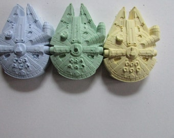 3 millennium falcon sidewalk  chalks  Party Favor - Kids - Coloring - Easter Basket - Stocking Stuffer , party favor .