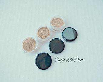 FOUNDATION POWDER SAMPLE, 5g natural, loose, organic, clay mineral foundation, natural makeup, concealer