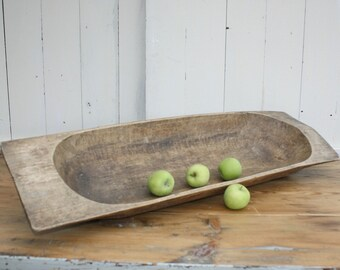 Extra Large Antique Wooden Dough Bowl