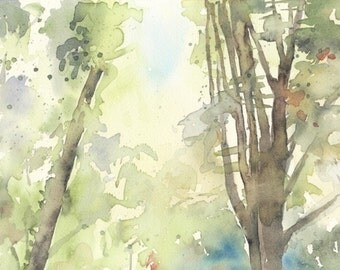 Forest. Original watercolour.
