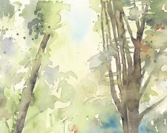 Forest. Original watercolour.