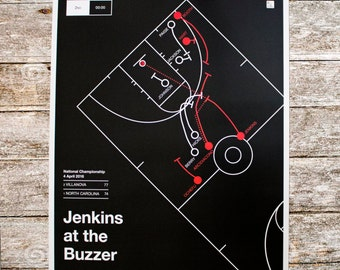 Villanova 2015 Poster: Jenkins at the Buzzer (16x20)