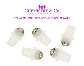 144 Stainless Steel Ball Rollers, Rollon, Roll on Rollerballs Replacement Inserts Housing for Essential Oil, Perfume,  Aromatherapy GROSS