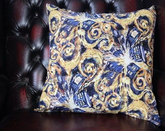 Exploding Tardis Inspired Cushion Cover