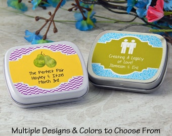 Lesbian Wedding Favors - Personalized Gay Lesbian Wedding Favors - Gay Wedding Favors - Mint Tins - Favor Tins - Candy Tind - Set of 10