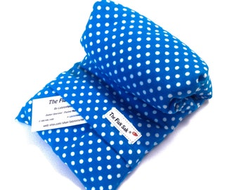 """Microwave Flax HEATING PAD - Neck Wrap - Removable/Washable cover - Large Heat pad - Hot cold pack - Lalatextures - hot pack """"The FLaX SaK """""""