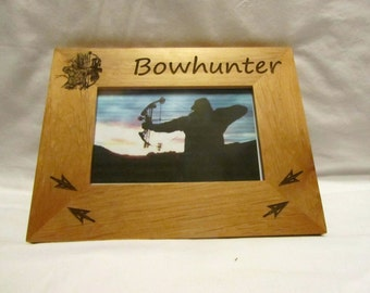 Personalized Wooden Picture Frame- Bowhunter