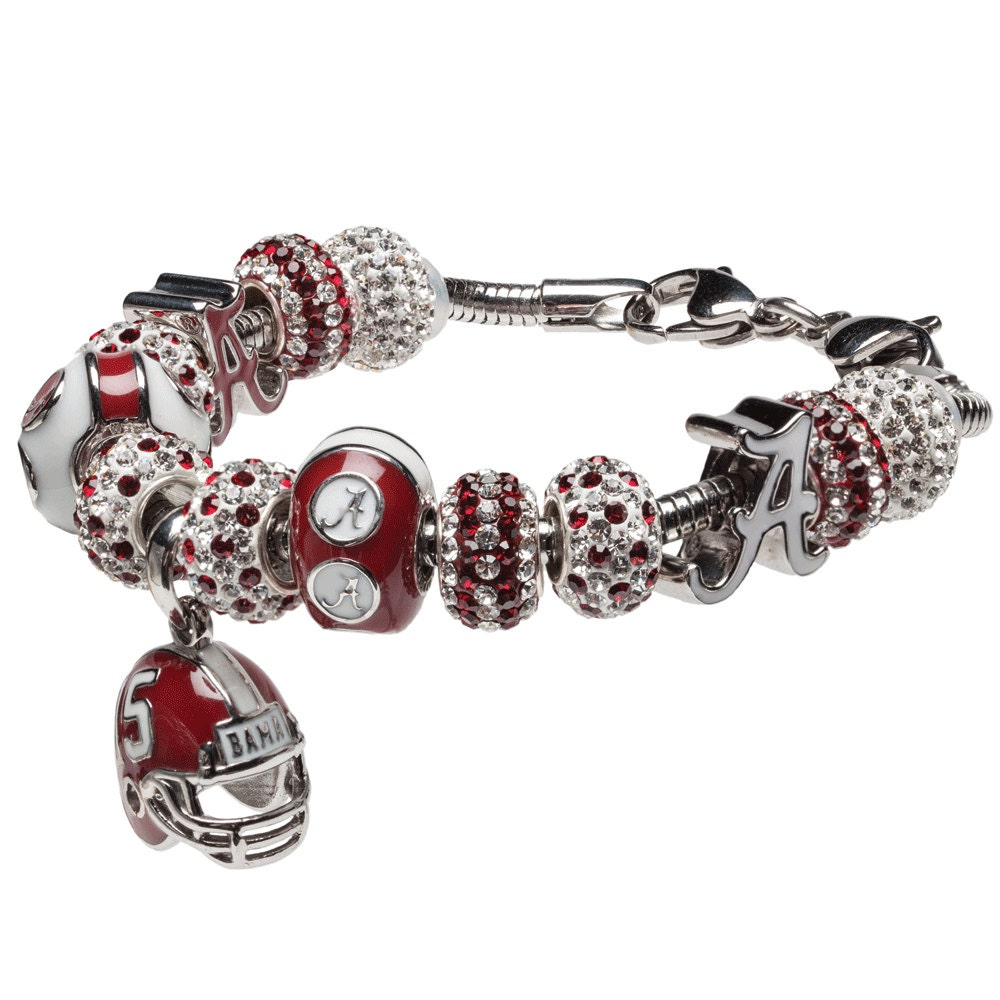 University Of Alabama Football A Charm Bracelet