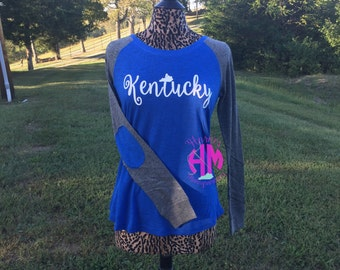Kentucky Elbow Patch Long Sleeve T-Shirt | Womens Fit