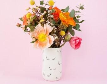 Sheila Boobies porcelain vase