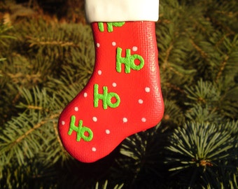 Christmas Boot - Christmas tree ornament made from polymer clay