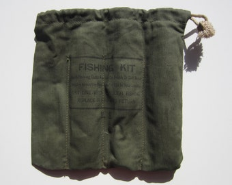 Vintage Hand Fishing Bag With Lines circa the 50's