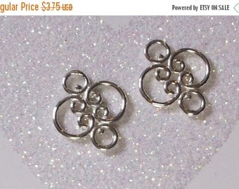 10% off Two (2) BALI .925 Sterling Silver 15x3mm Link Components #068