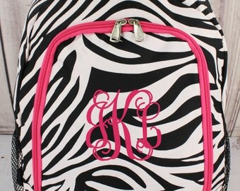 Monogram Zebra Backpack