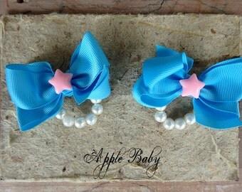 Baby bows, kids bows, toddler bows, star bows, pigtail bows, pigtail set