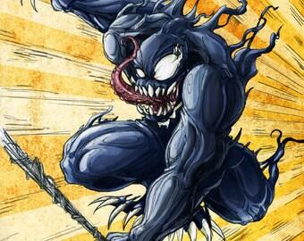 Venom Art Print, 8.5 x 11, By Jamie Wallace
