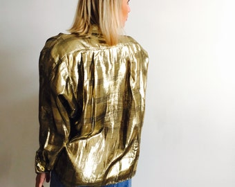 1970s CG Designs Gold Blouse