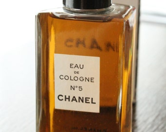 CHANEL no 5 Vintage Original 1980's Eau De Cologne Splash EDT 4 oz 120 ml
