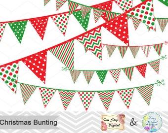 Christmas Bunting Banner Digital Clip Art Christmas Party Bunting Banner Clipart Christmas Banner Clipart Party Banner Christmas Banner 0384